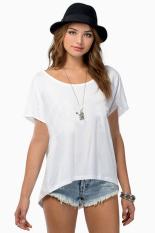 Toprank Summer Tops Tees Women's T Shirt Women T-Shirt Modal Woman Clothes Female O-Neck Tshirt S-L 22 x (White)