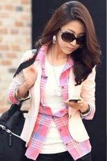 Toprank Women Jackets Plus Size Xl Women CoatOutdoor Jackets Suit Casual And Work Wear One Button Blazer Suit Women (Pink)