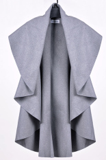 Toprank Women Woolen Coat Shawl Poncho Scarves Coat Capes Poncho For Women 8 (Grey)
