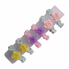 Toylogy Grow Jepit Rambut Motif Bunga Mawar ( Hairpin Rose Flowers ) Isi 3 Pasang