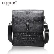 TP Horyeer Famous Brand Handbag 2016 Vertical Leather Men Bag Businesscasual Alligator Shoulder Messenger Bag Crocodile Grain Bag - Intl