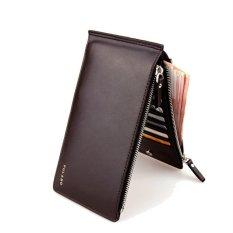 TP Leather Men Wallets Clutch Double Zipper Mens Wallets (Brown) - Intl