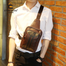 TP New Single Shoulder Bag Men Chest Bag Crossbody Bag Sports Smallbag Cool Bag Brand Design Design Old School Korean Men's Handbag-Coffee - Intl