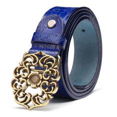 TP Womens Genuine Leather Belt Fashion Belts Blue 105Cm - Intl