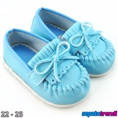 TrendiShoes Sepatu Anak Bayi Perempuan Pita Elegan JVNRJT - Biru