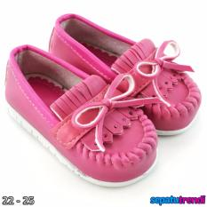 TrendiShoes Sepatu Anak Bayi Perempuan Pita Elegan JVNRJT - Fuchsia