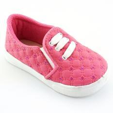 TrendiShoes Sepatu Anak Bayi Perempuan Slip On Cantik MCP2 - Fuchsia