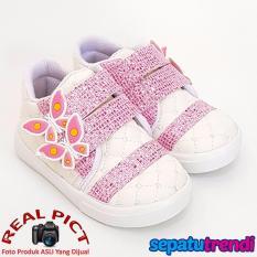 TrendiShoes Sepatu Anak Perempuan KPWJ - Putih Pink