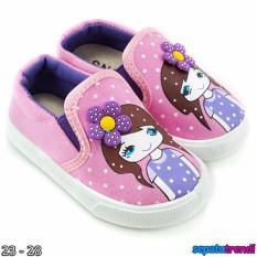 TrendiShoes Sepatu Anak Perempuan Slip On Denim Import CESNW - Pink