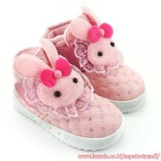 TrendiShoes Sepatu Boot Anak Perempuan Boneka Elegan - Pink