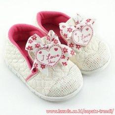 TrendiShoes Sepatu Bunyi Slip On I Love You Lingkar - White