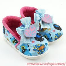 TrendiShoes Sepatu Bunyi Slip On I Love You Motif Elephant - Blue