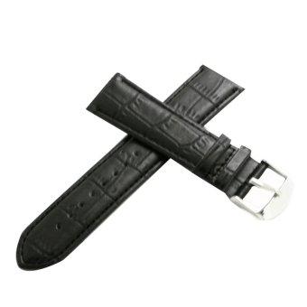 Twinklenorth Crocodile Grain Calfskin Calf Men Black Leather Strap WW-006