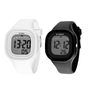 Twinklenorth Men's Black/White Silicone Strap Watch 66896-8