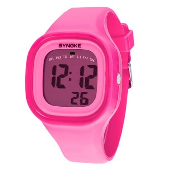Twinklenorth Men's Pink Silicone Strap Watch 66896-5