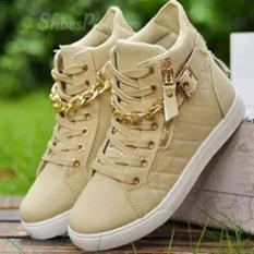 Ubutik Sepatu Boots Wanita- Boots Rantai ZR - Crem