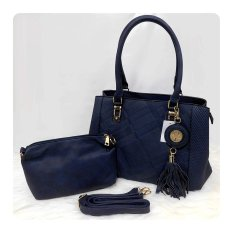 Ultimate Tas Wanita 2in1 / Top-Handle Bag / Tas Branded Wanita High Quality Korean / Tas Fashion Korean Elegant Bag Style 201 - Blue