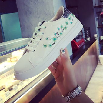 Ulzzang versatile female New style student's shoes canvas shoes (Hijau)