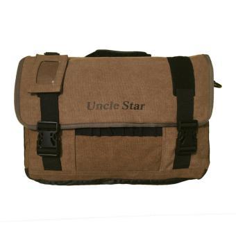Uncle Star Men Canvas Vintage Messenger Bag Practical Multi-Pocket Tool Bags / Tas Laptop