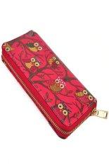 Unique Design Owl Printing Women Wallet Zipper Handbag Lady Clutch Bag Rose