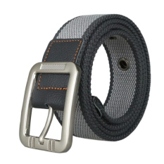 Unisex Casual Canvas Belt Web Belt Woven Belt With Needle Buckle For Jeans 110cm 43inch- Intl