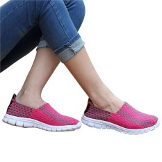 Unisex Fashion Casual Lovers Breathable Sneaker Shoes Woven Leisure Shoes For Running (Rosy, 39)