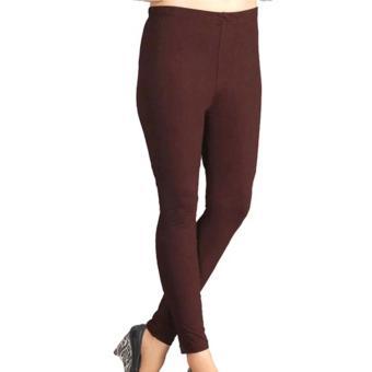 Universal Legging Polos Panjang Ukuran Standart dan Jumbo Warna Coklat tua