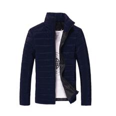 VAKIND Mens Slim Fit Jacket Padded Coat Blue (Intl)