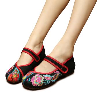 e845ba10992ea Harga Veowalk Peacock Embroidered Women Casual Cotton Flat Shoes ...