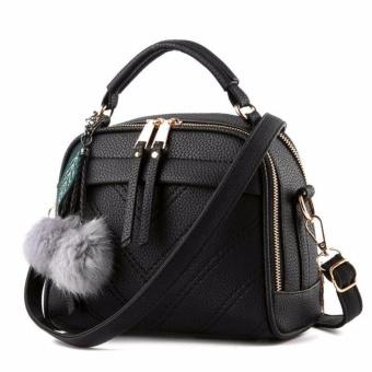 Vicria Tas Branded Wanita With Pompom - High Quality PU Leather Korean Elegant Bag Style-