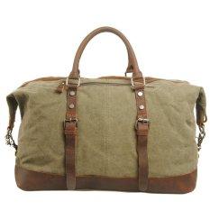Vintage Multi Function High-capacity Canvas Casual Bag Messenger Handbags (Army Green)