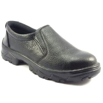 Viox sepatu safety shoes 8101 slip on hitam lazada for Viox