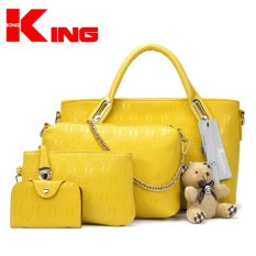 ViuiDueTure Faux Crocodile Leather Bags Set Of 4 (Yellow) - Intl