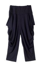 VIVISWILL Fashion Baggy Harem Cropped Pants (Black) (Intl)