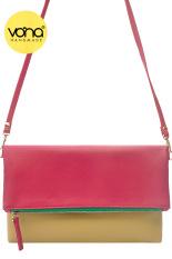 VONA Pitta (Ungu Beige) - Tas Wanita Selempang Sling Bag Clutch Crossbody Kecil