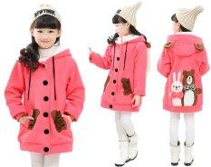 Vrichel Collection - Jaket anak perempuan Bear & bunny (peach)