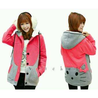 Vrichel Collection - Jaket Perempuan Kitty (Peach)