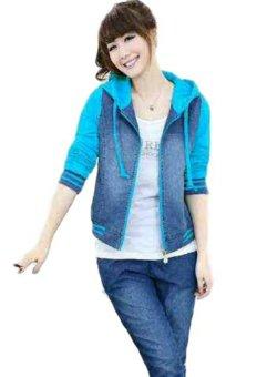 Vrichel Collection Jaket Wanita Jeans Wash (Turkish)