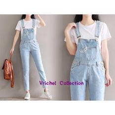 Vrichel Collection Jumpsuit Jeans Wanita Asri ( Biru Muda )