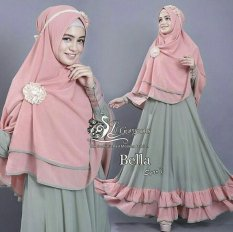 Vrichel Collection - Syari 2in1 bella (hijau - salem)