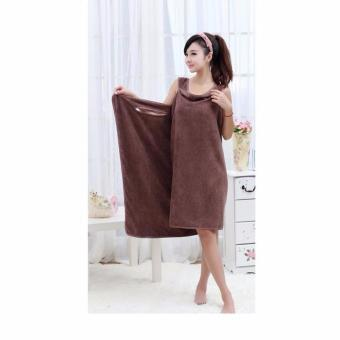 Wearable Towel - Baju Handuk Multifungsi COKLAT