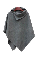 Winter Loose Cloak Dark Gray 35