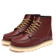 Winter Shoes Snow Boots Mens Shoes Soft Leather Add Fur Keep Warm Work and Safety Ankle Boots Casual Male Winter Boots (Intl)