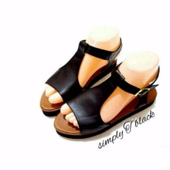 WK Fashion Sandal Wanita Elegant Simply T - Black