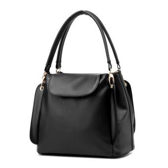 Woman Casual Dual-Used Bag Handbag (Black)