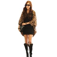 Women Fashion Leopard Batwing Sleeve Loose Chiffon Coat Cardigan Blouse - Intl