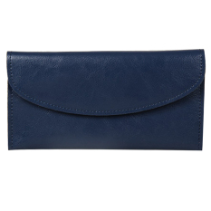 Women Genuine Leather Wallet Clutch Purse Handbag Bag Trifold Bifold Blue