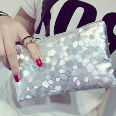 Women Lady Sparkling Sequins Clutch Evening Party Bag Handbag Tote Purse Wallet Silver