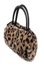 Women Plush Handbag Autumn Winter Handbag Shoulder Bag Purse Tote (Black)