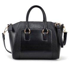 Women Shoulder Bag Faux Leather Satchel Cross Body Tote Handbag Black*